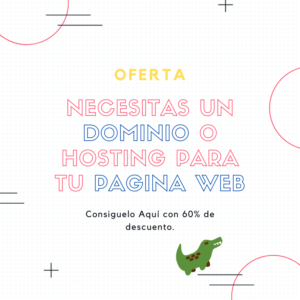 Consigue tu dominio y hosting super barato