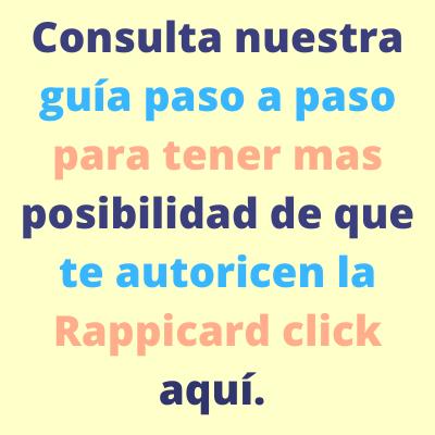 Consulta nuestra guia paso a paso para tener mas posibilidad qde que te autoricen la Rappicard.