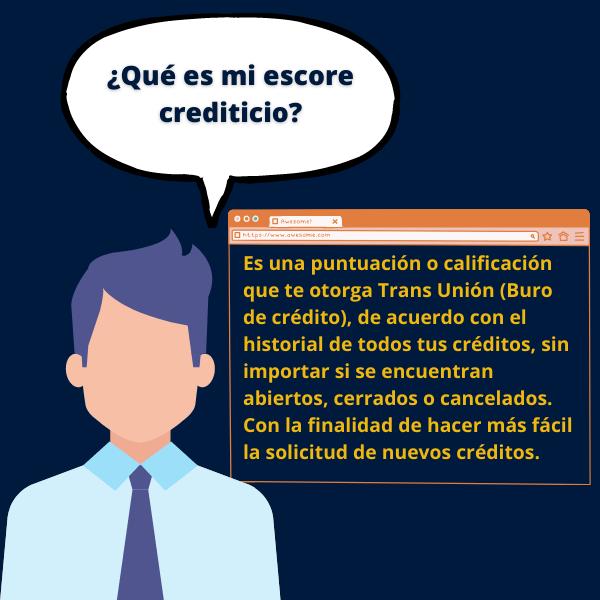 Es una puntuación o calificación que te otorga Trans Unión (Buro de crédito), de acuerdo con el historial de todos tus créditos, sin importar si se encuentran abiertos, cerrados o cancelados. Con la finalidad de hacer más fácil la solicitud de nuevos créditos.